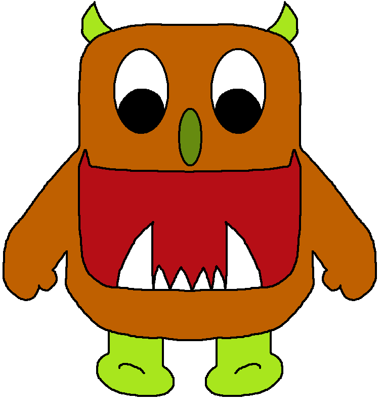 Monster clipart brown monster. Panda free images monsterclipart