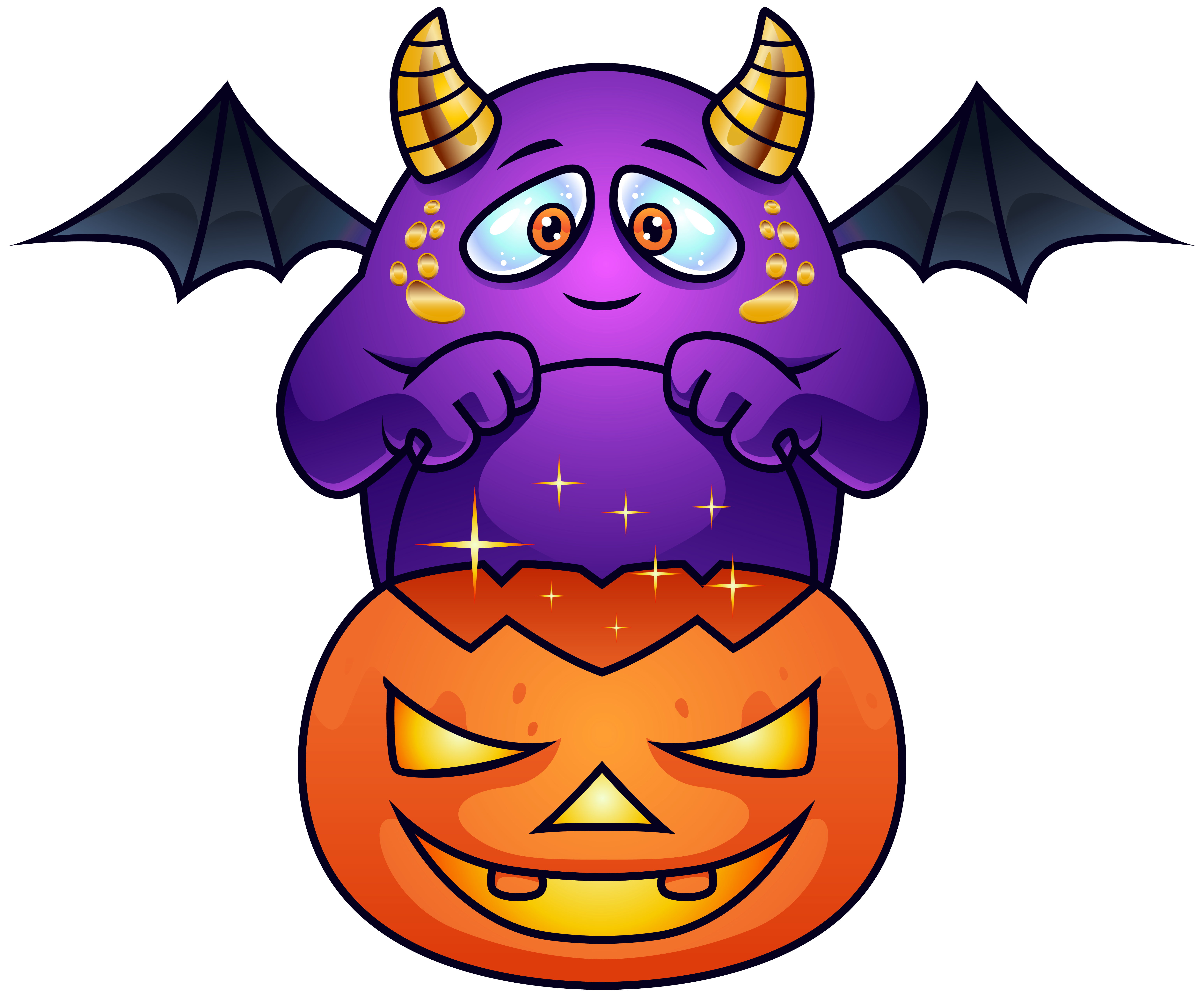 Monster clipart halloween. Purple png image gallery