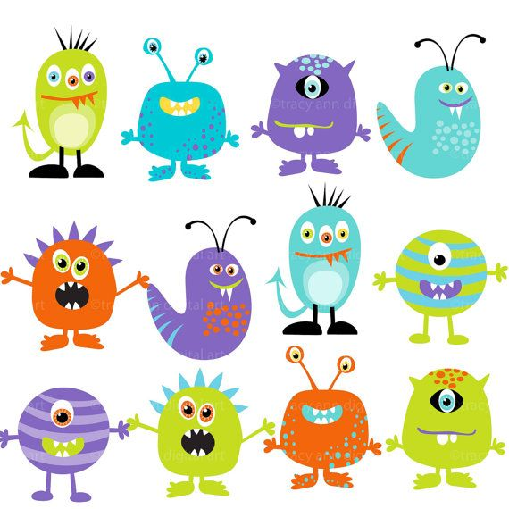 Monster clipart lil monster. Little etsy
