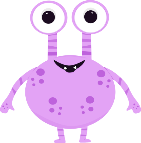Monster clipart png. Purple two eyed clip