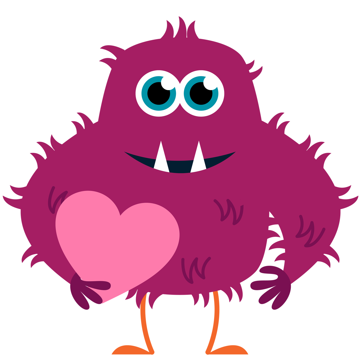 Vector monster heart