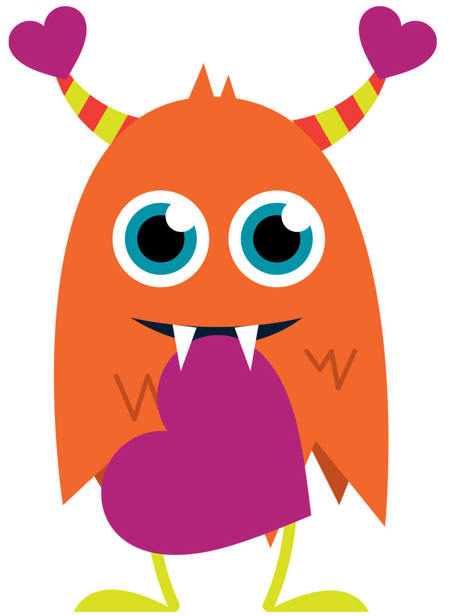 valentine clipart monster