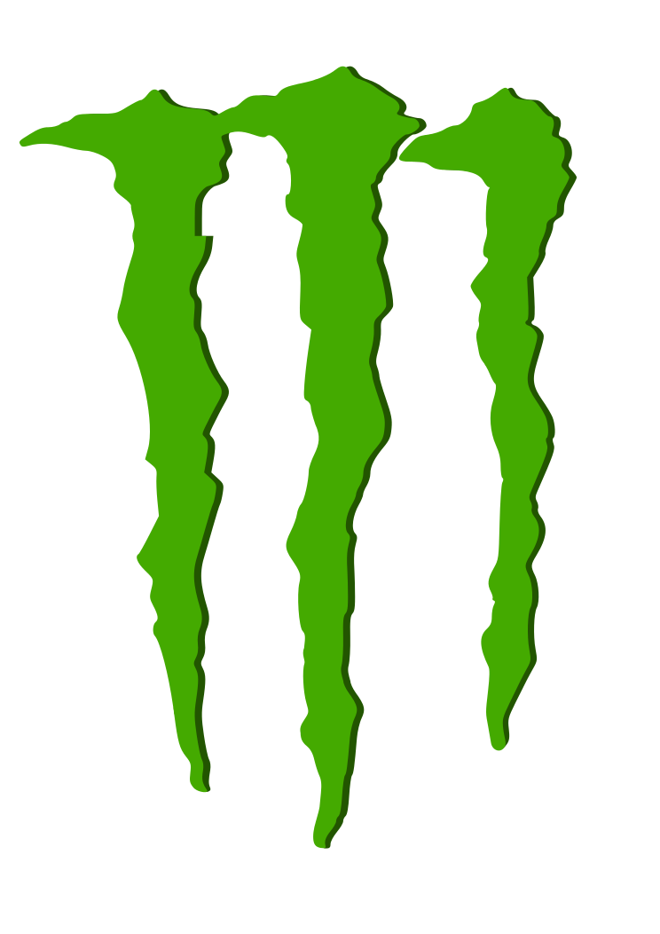 Vector monster file. Energy logo png images