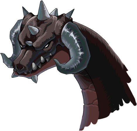 Monster head png. Image maplestory horntails left