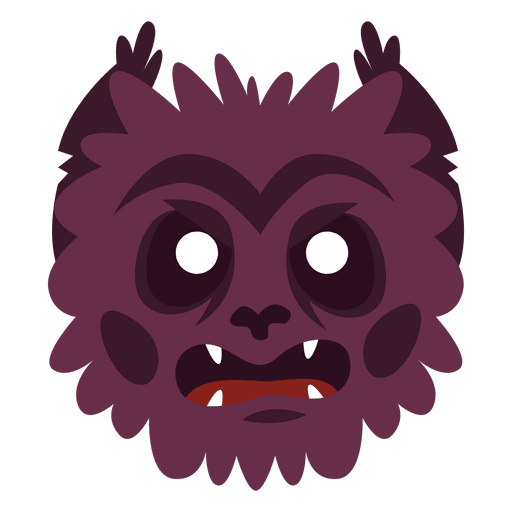 Monster head png. Hairy halloween mask transparent