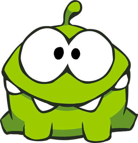 Monster head png. Image cut the rope