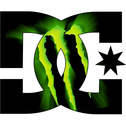 Monster logo png. Sticker et autocollant dc