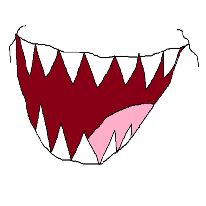 Scarey clip scary tooth. Scribble monster mouth roblox