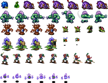 Monster sprite png. Sheets bofmonsterssheetgif