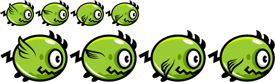 Monster sprite png. Basic scaling animation and