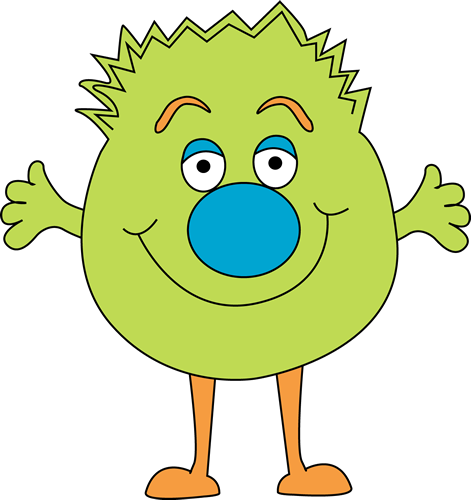 Monsters clip cute fuzzy cartoon. Free monster art funny