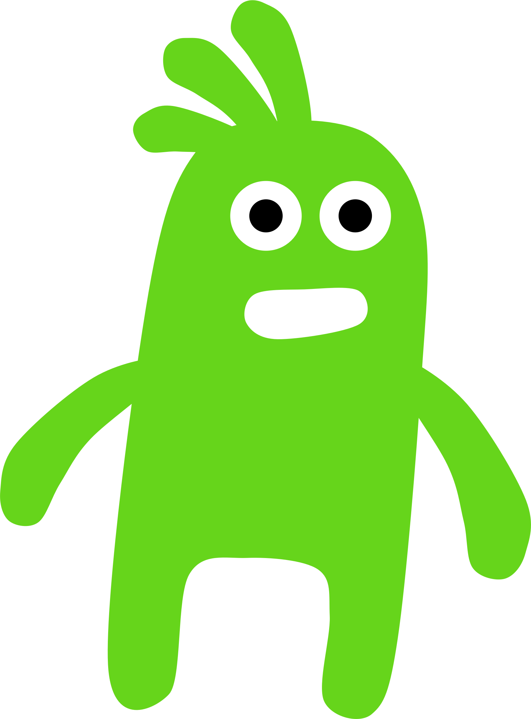 Monsters clip green monster. By scout a worried