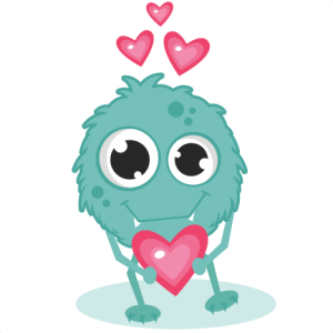 Monsters clip love monster. In svg cutting files
