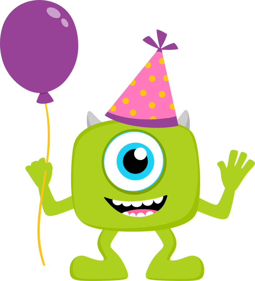Monsters clip monster party. Inc art free clipart