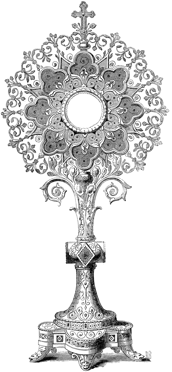 Contact . Monstrance drawing svg freeuse library