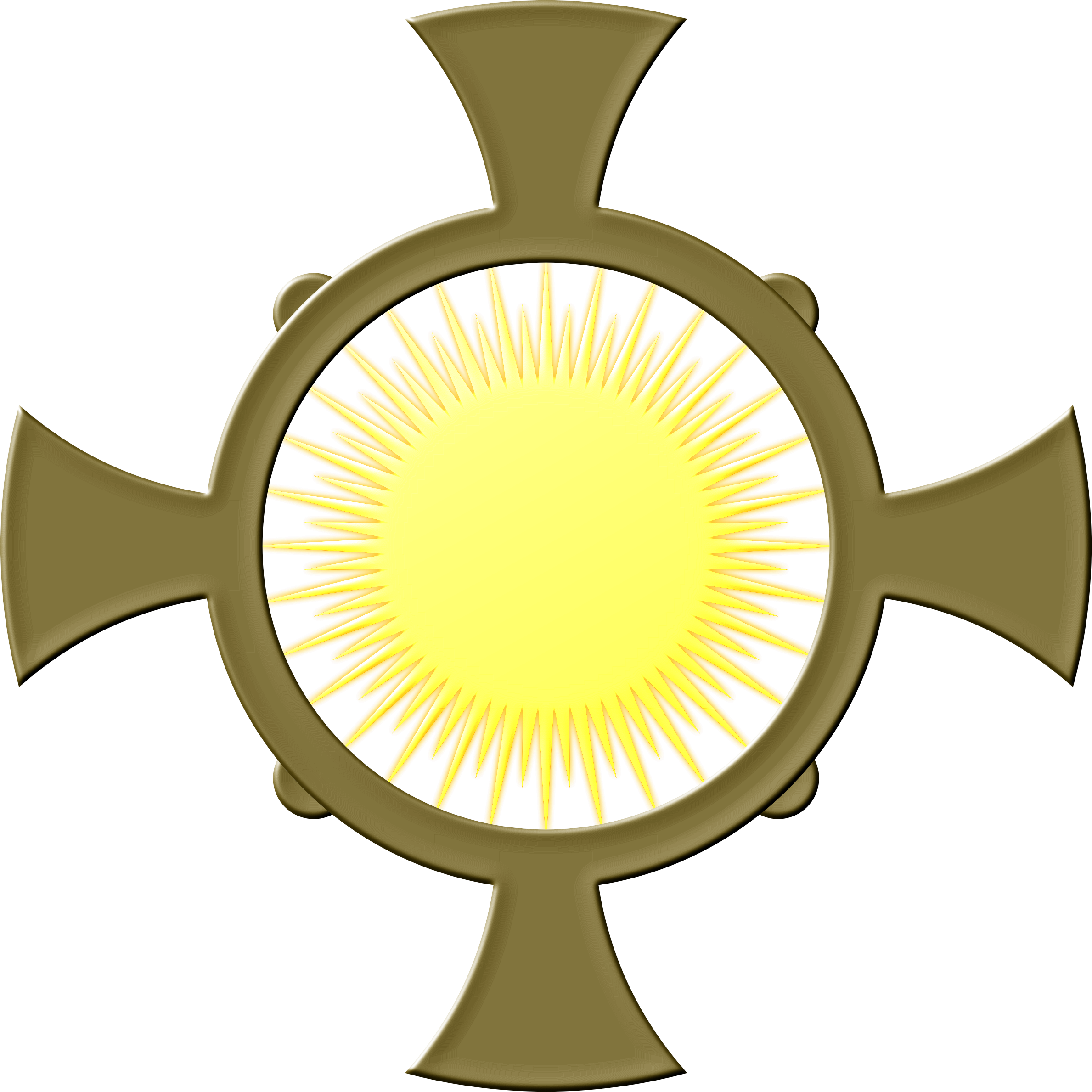 Monstrance drawing icon. Cross xxii icons png