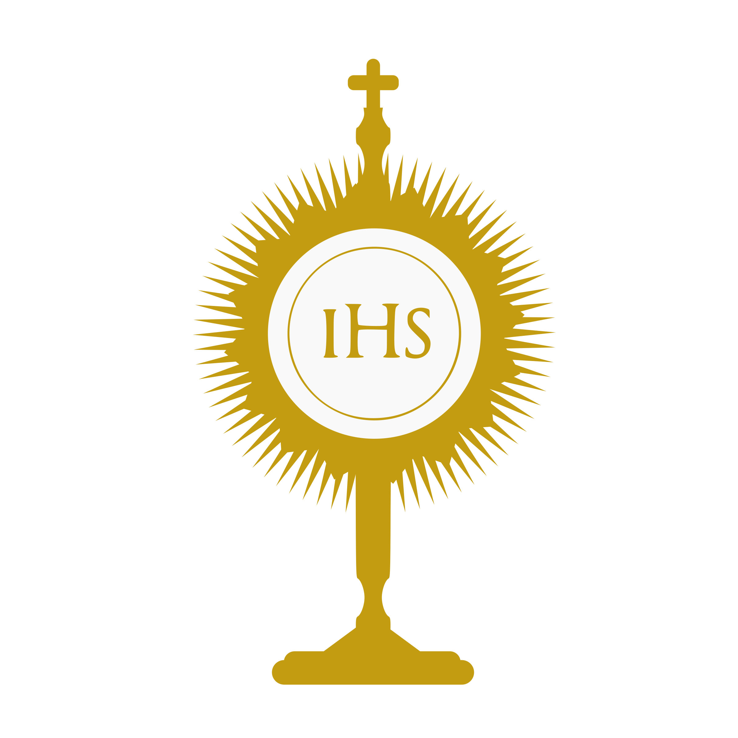 Collection of free blessed. Monstrance drawing clip art download