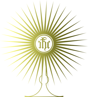 Monstrance drawing simple. Eucharistic adoration blessed sacrament