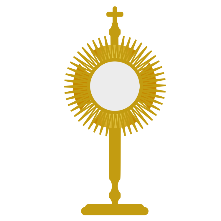 Monstrance drawing background