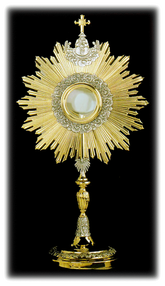 Monstrance drawing simple. Catholic is christian a