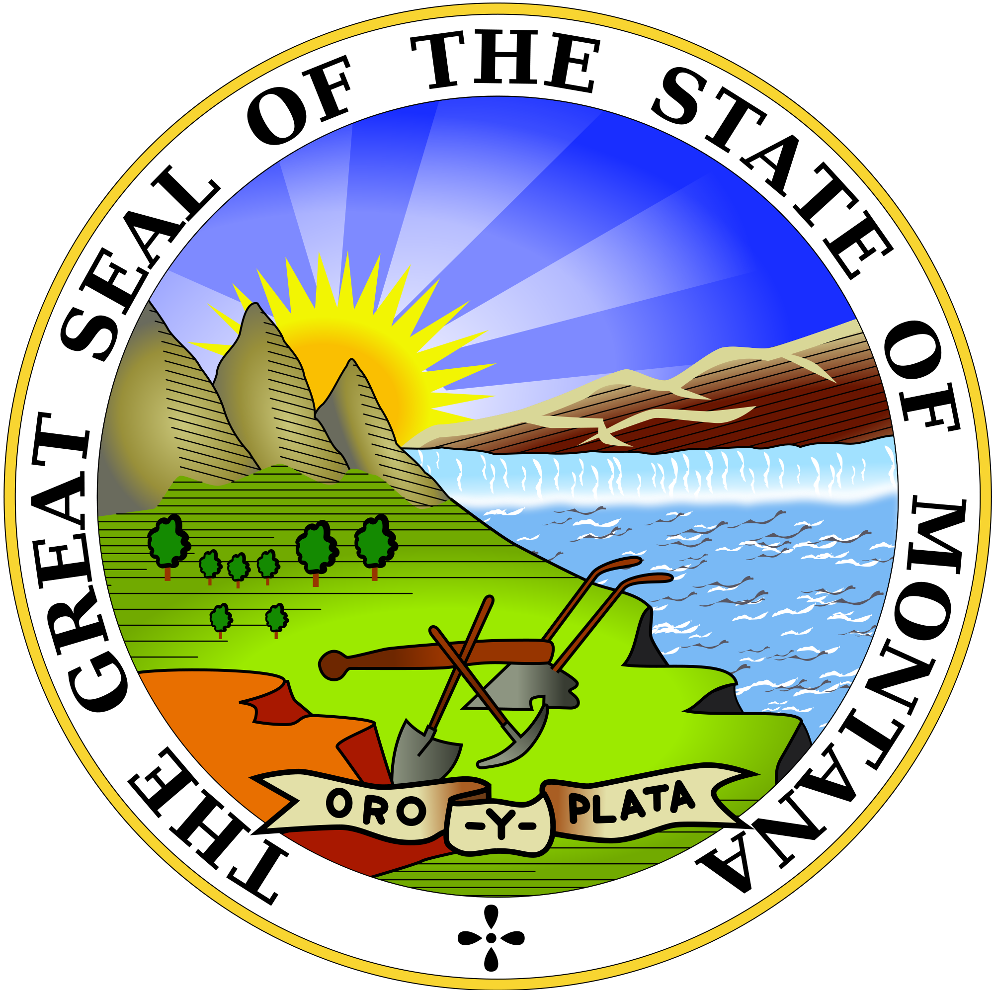 montana state seal png