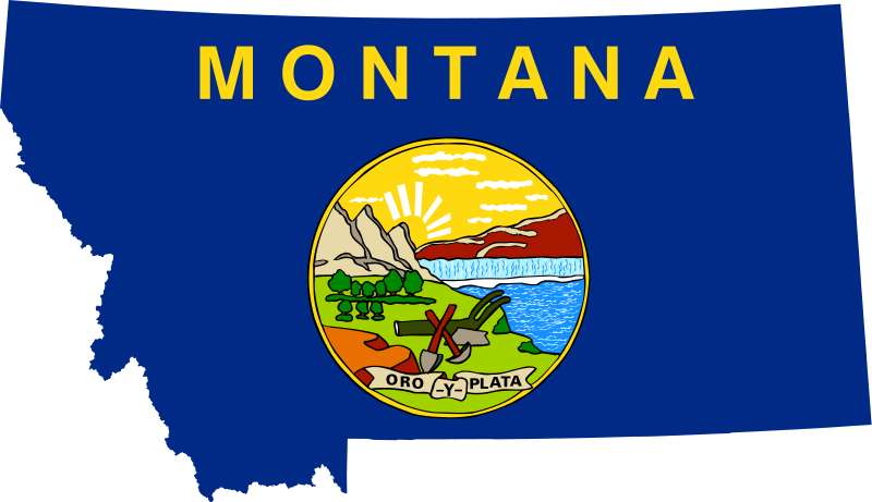 Montana vector map. File flag of svg