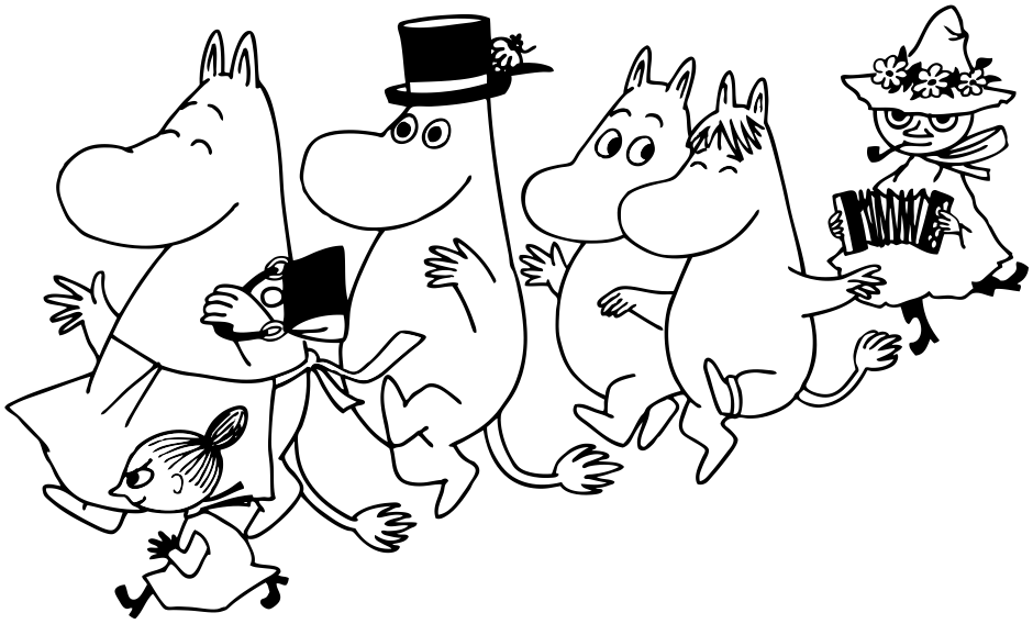 Moomin drawing. Which character are you