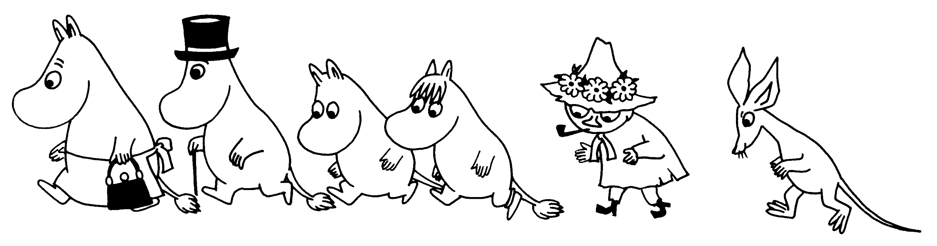 Moomin drawing. Press kit such as