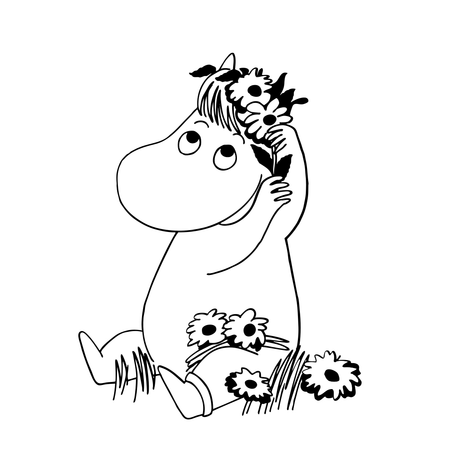 Moomin drawing. Make friends with moomins