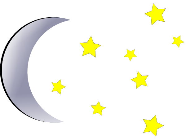 Moon and stars png. Clip art at clker