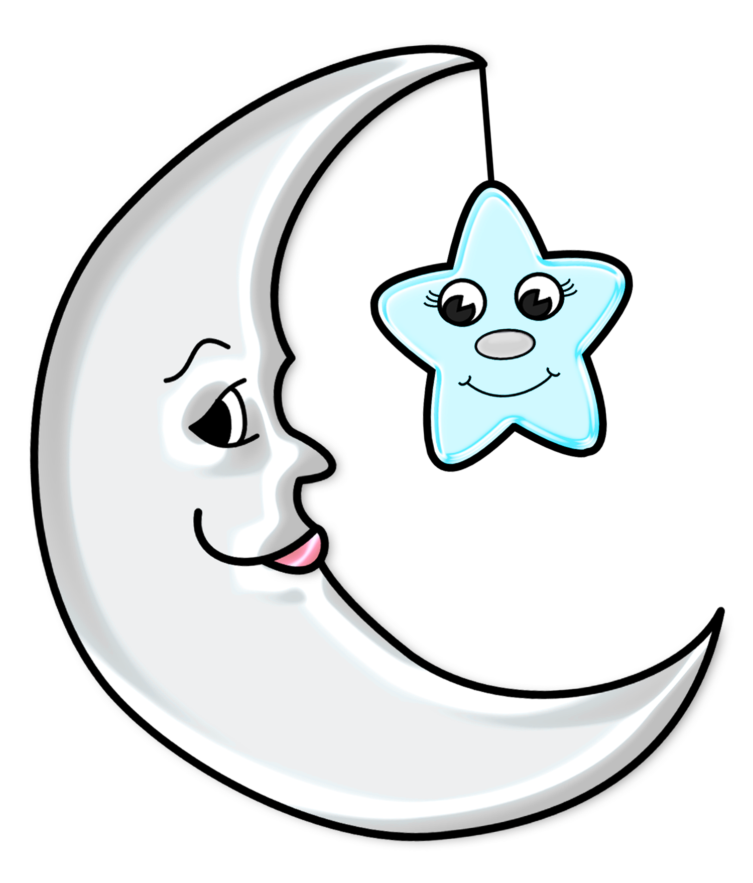 Hd drawing moon. Cute with star transparent