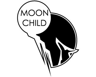 Moon child png. Designed by user brandcrowd