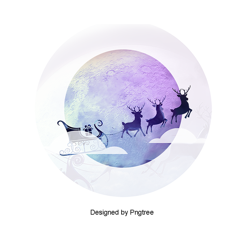 Moon clipart christmas. Transparent background element material