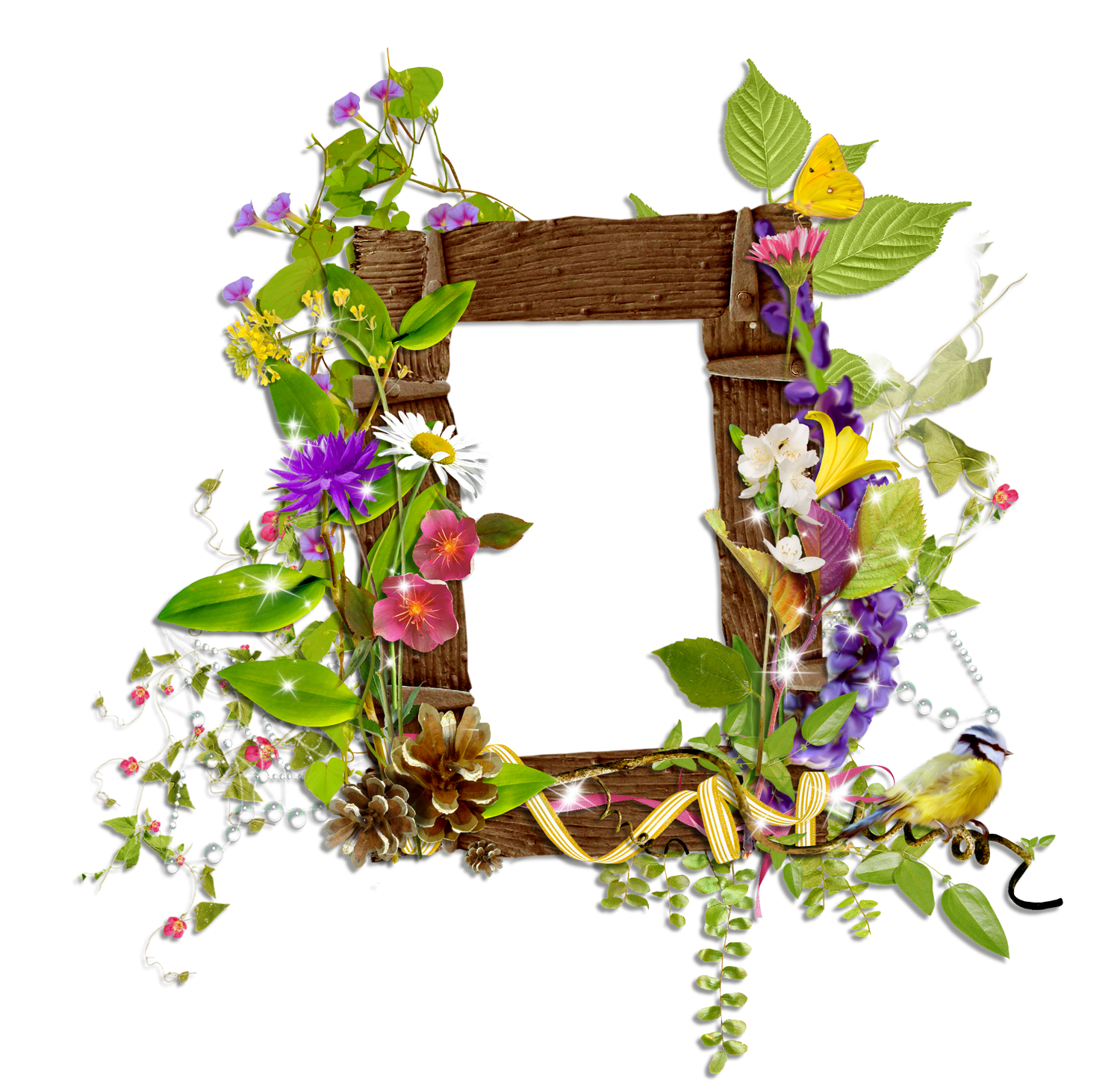 Moon clipart frame. Shining transparent with wild