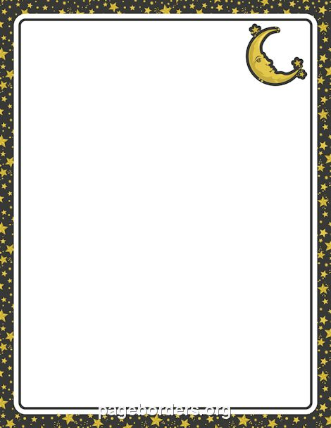 Moon clipart frame. Best page borders
