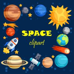 Planets clipart vector. Our clip art collection
