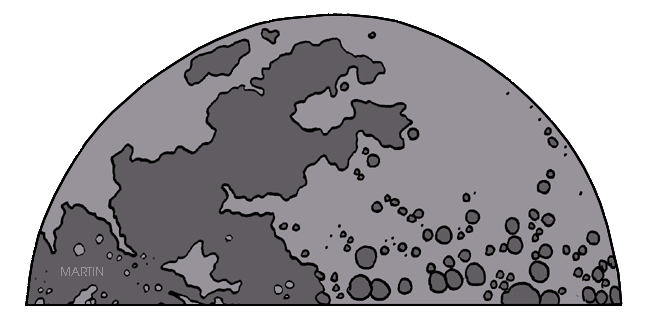 moon clipart outer space