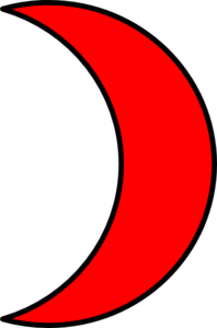 moon clipart red