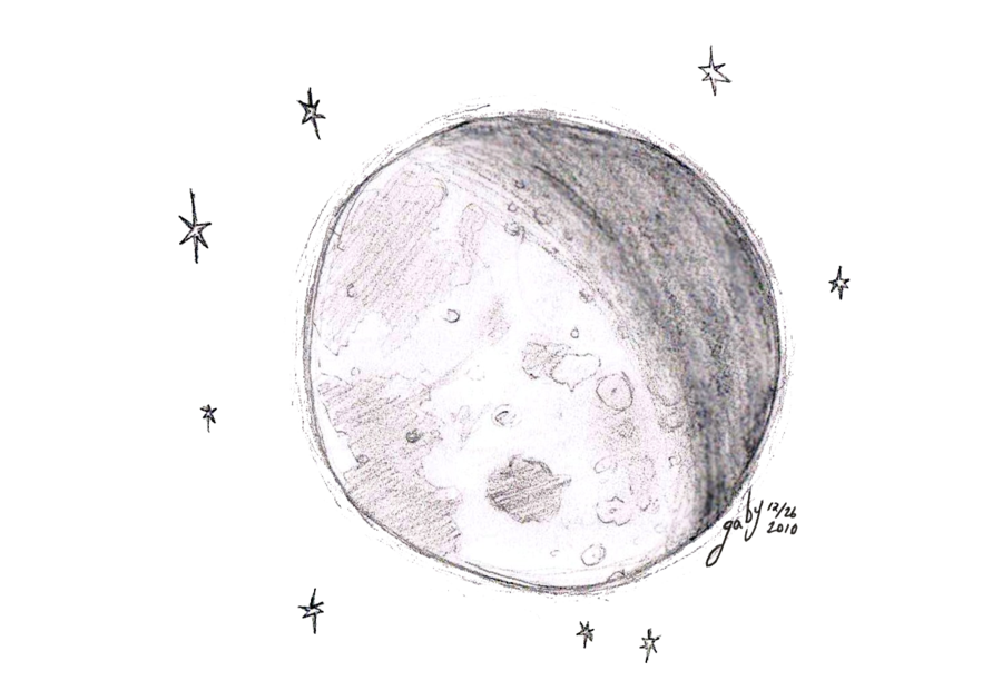 Moon doodle png. By chibipandamonster on deviantart