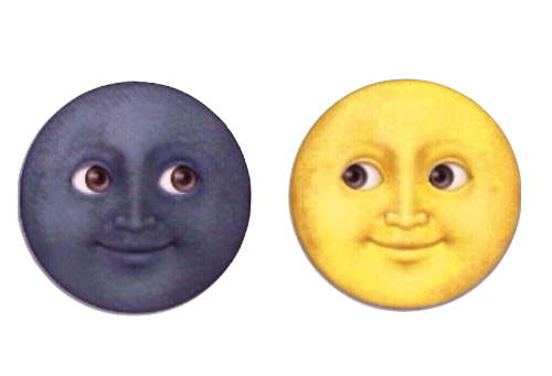 Moon emoji png. Image about cool in