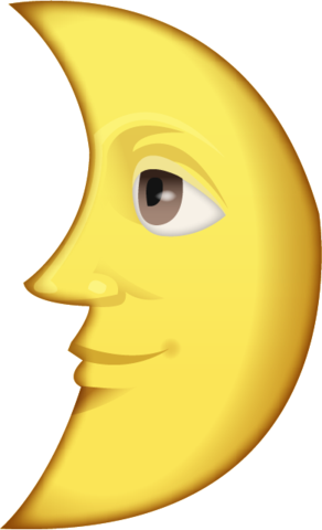Moon emoji png. Download first quarter with
