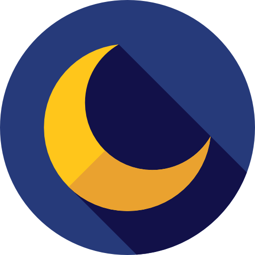 Moon icon png. Crescent svg