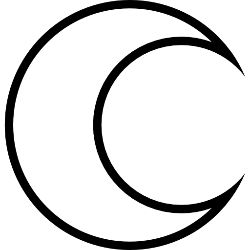 Crescent vector cartoon moon