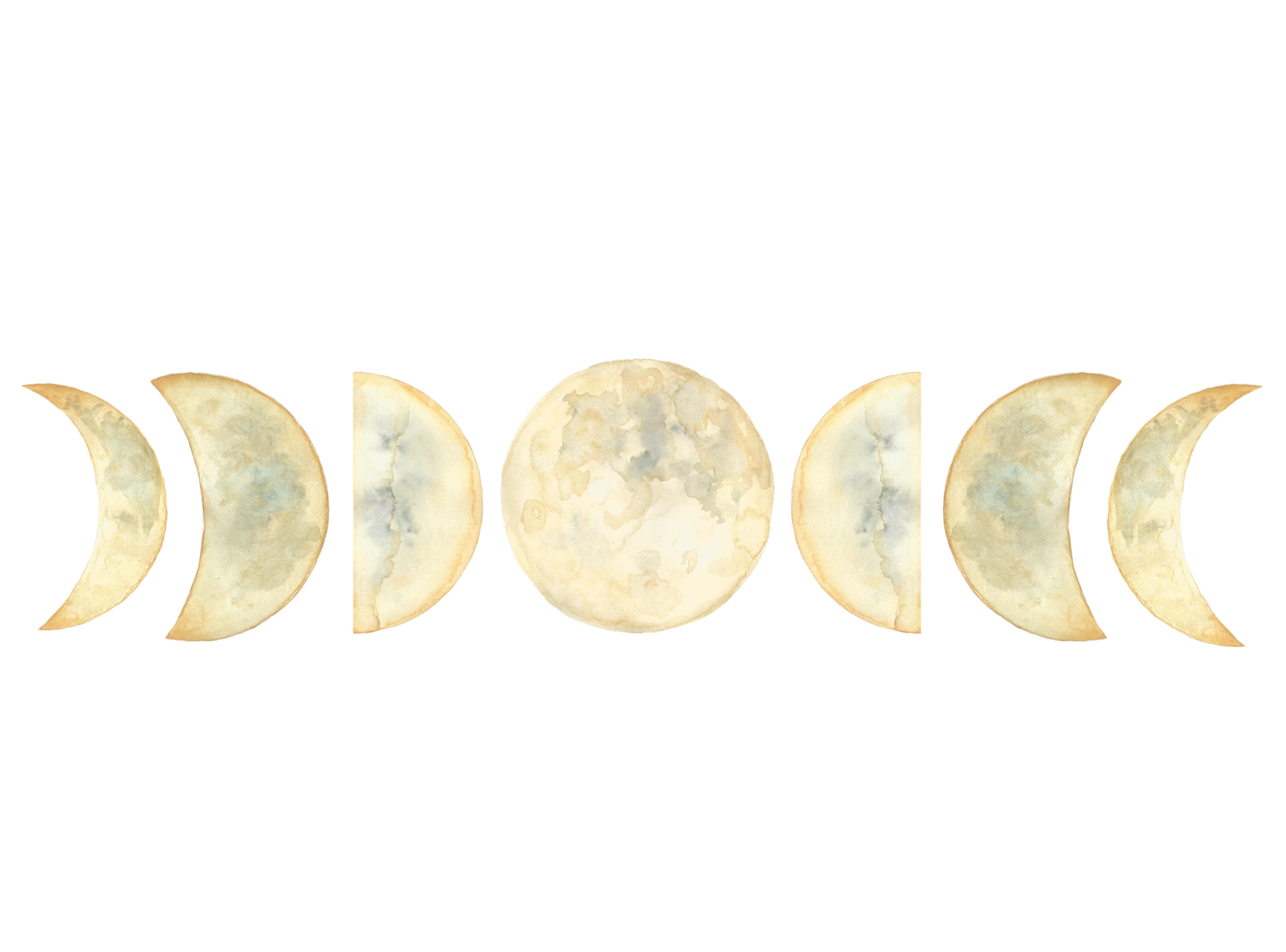 Moon phases png. Celestial hillary heydle moonphasespng