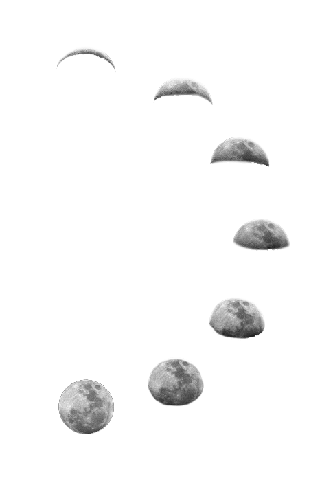 Moon phases png. Transparent via tumblr on