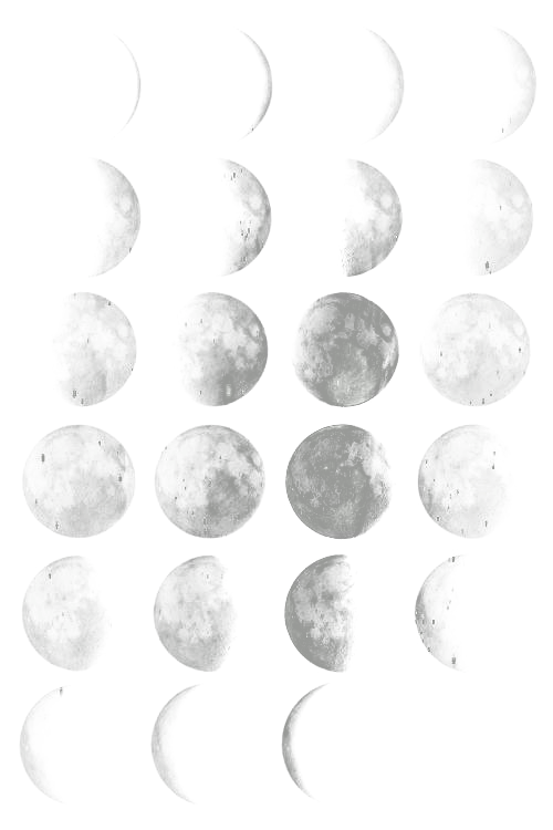 Moon phases png. Blanc pinterest and overlays