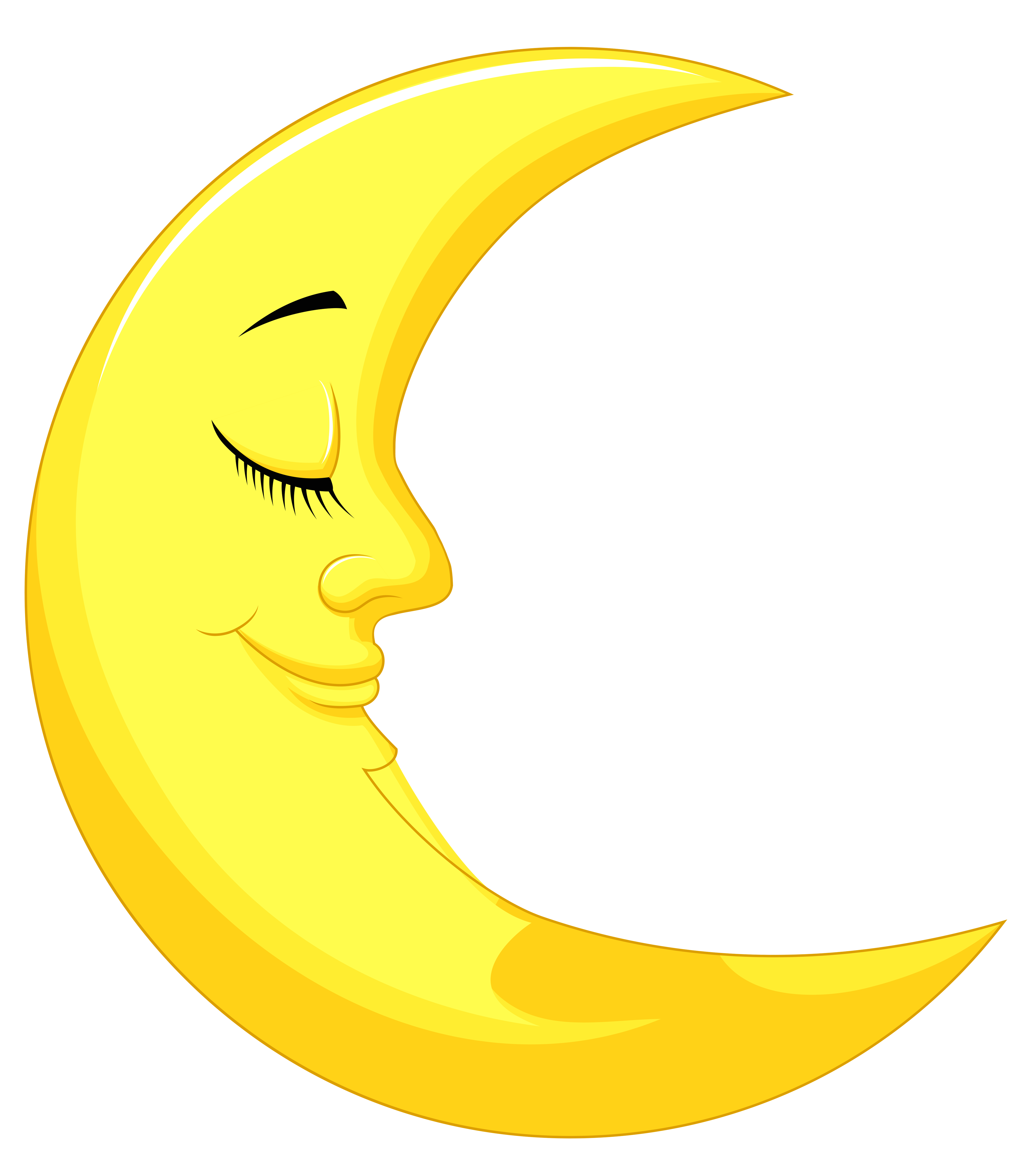 Yellow moon png. Cute clipart picture gallery