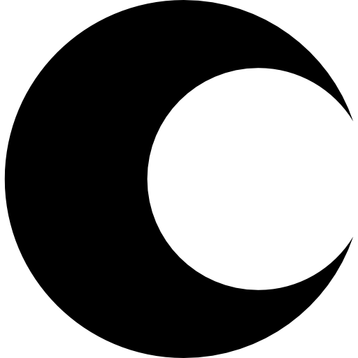Moon shape png. Of crescent phase free