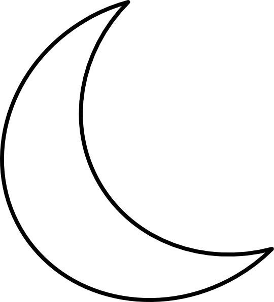 Moon shape png. Free crescent cliparts download