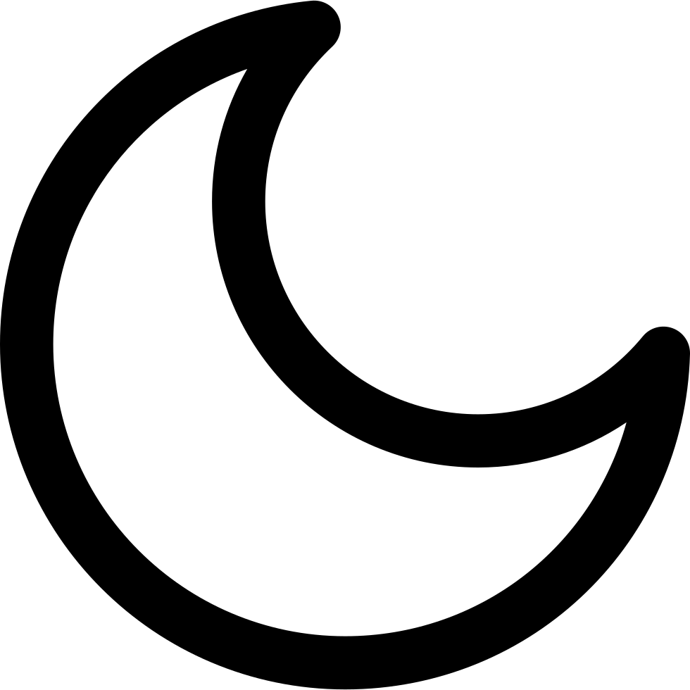 Moon shape png. Half svg icon free